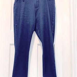 EUC Faded Glory Dark Denim Pockets Pull On Pan…